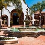 ENSENADA, MEXICO - MAY 3, 2017:  Courtyard and fou...