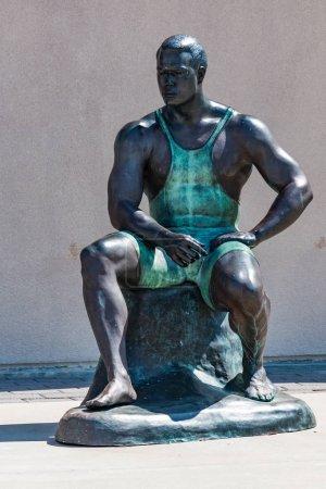 Statue of Olympic Wrestler Wes Barnett