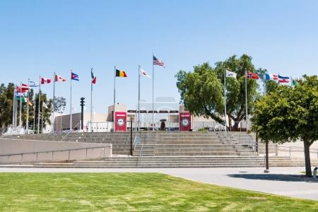 Olympic Training Center Courtyard and Flags of Nations