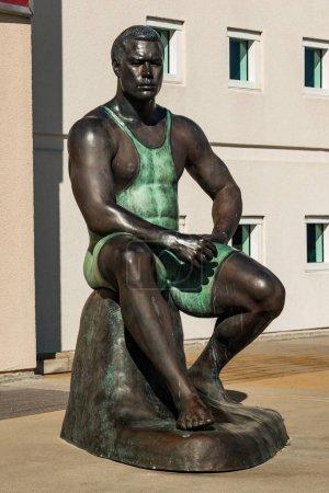 Body Cast Statue of Olympic Wrestler Wes Barnett