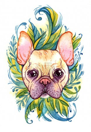 small watercolor bulldog