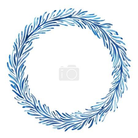 watercolor winter wreath
