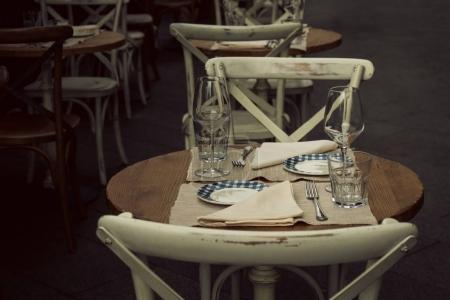 Beautiful Cafe or Restaurant in Retro Vintage Tones.