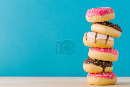 Stack of sweet donuts
