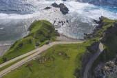 """Постер, картина, фотообои """"Удивительный пейзаж острова Батанес на Филиппинах. Взгляд с дрона."""""""