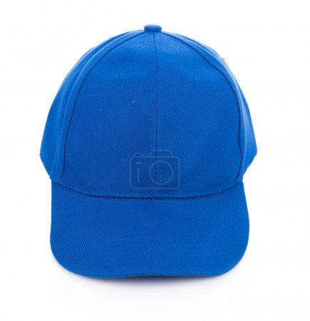 Blue hat isolated on white background...