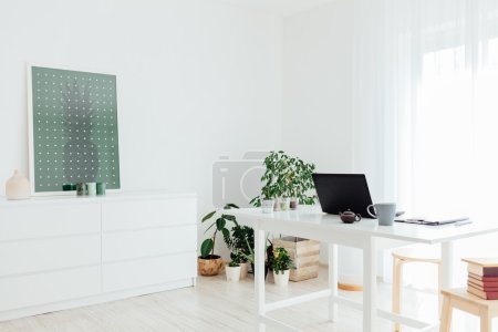 Home white workplace