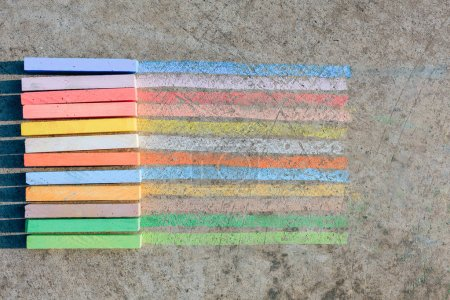 Colorful rainbow chalks