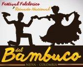 Bambuco's Silhouette Dance Performance for Colombian Folkloric Festival, Vector Illustration