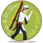 Traditional Male Silletero for Colombian Festival of the Flowers, Vector Illustration