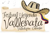 Vueltiao Hat Scroll and Greeting Scroll for Vallenato Legend Festival Vector Illustration