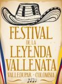 Vueltiao Hat in Hand Drawn Style for Vallenato Legend Festival Vector Illustration