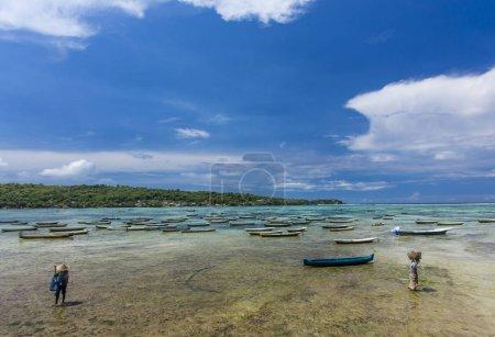 Seaweed farmers at Nusa Lembongan