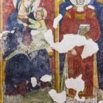 Anonymous frescoes of Santo Stefano Church, Soleto...