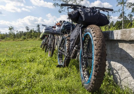 Fatbike with bikepacking and usual bikes