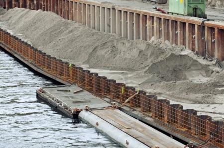 Construction of modern embankment
