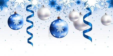 Décor de Noël pour motif horizontal sans couture