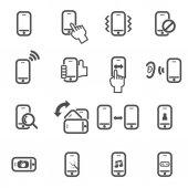 Sada ikon smartphone vektor