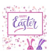 Hand-letering vector illustration Happy Easter