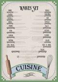 Kitchen tools utensils equipment ware set: knives  chef's knife peeling tomato vegetable meat fork Vector fine vertical top view border illustration on white background Hand drawn black linear