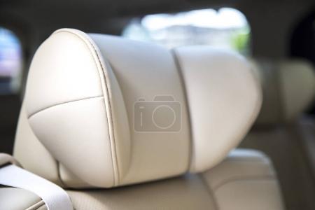 close up inside a car