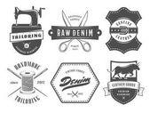 Vintage tailoring denim labels