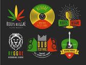 Vector reggae logos