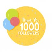 Thank You social network followers concept Vector illustration