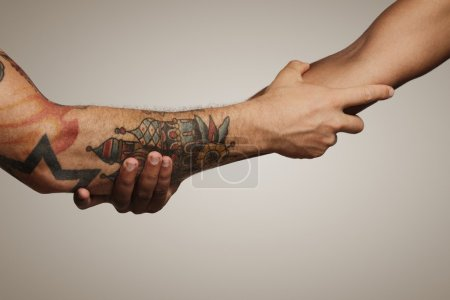 handshake of two young men