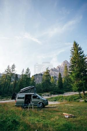 Small travel vehicle camping van