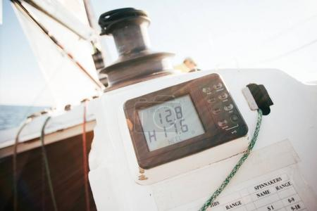 navigation device on yacht