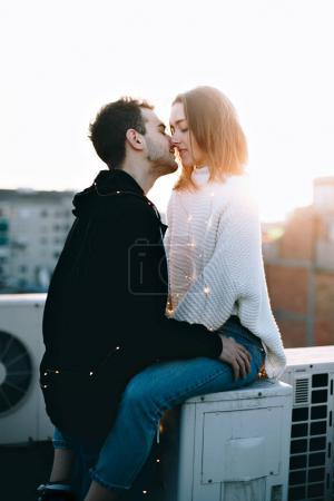 Beautiful and attractive young couple, cute and adorable woman or teenager and boyfriend in casual hipster clothes, social media relationship goals for internet blogger lifestyle