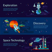 Space spaceship astronaut planets and ufo