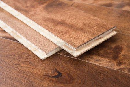 Photo pour Les planches de parquet parquet clic de verrouillage - image libre de droit