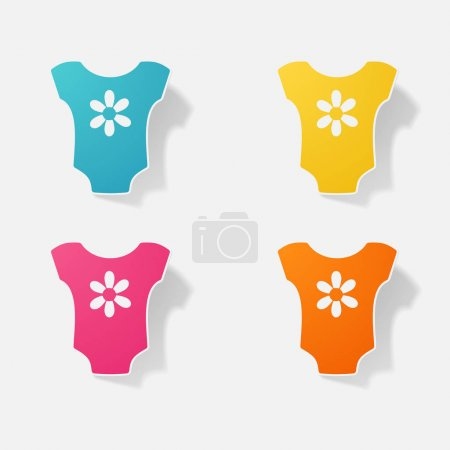 Brand new born baby clothes for boys and girls  vector