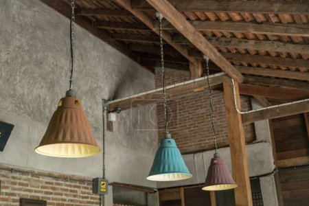 Photo for Vintage lamb in coffee shop cafe. - Royalty Free Image