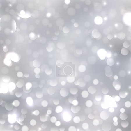 Illustration for Blurred silver bokeh background with soft lilac and pink colors. Holiday lights - Royalty Free Image