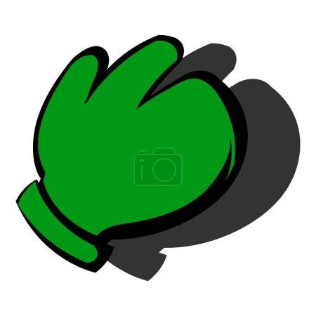 Illustration pour Icône de gant de travail dans l'icône dans l'illustration vectorielle isolée de style dessin animé - image libre de droit