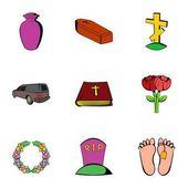 Sadness icons set cartoon style