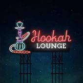 Hookah road sing City sign neon Logo emblem Hookah neon sign bright signboard light banner