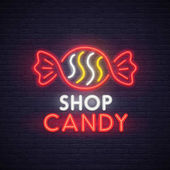 Candy shop neon sign bright signboard light banner