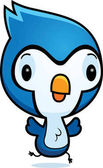 Cartoon Bluejay Running