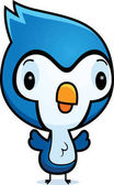 Cartoon Baby Bluejay