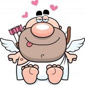 Cartoon Cupid Sitting