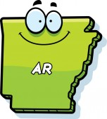 Cartoon Arkansas Smiling