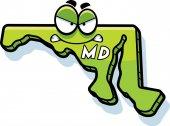 Cartoon Angry Maryland