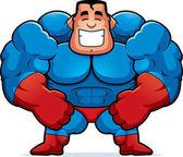 Kreslený superhrdina protahuje