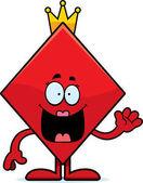 Cartoon Queen of Diamonds Waving