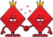 Cartoon King and Queen of Diamonds