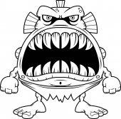 Angry Cartoon Fish Creature
